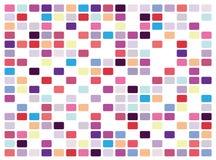 Mosaico retro no fundo branco Fotos de Stock Royalty Free