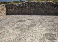 Mosaico romano antigo de Hercules em Volubilis Imagem de Stock