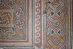 Mosaico romano antiguo en la basílica magnífica de la natividad de Christ's en Belén foto de archivo libre de regalías