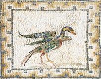 Mosaico romano antiguo que representa un pato Fotografía de archivo libre de regalías