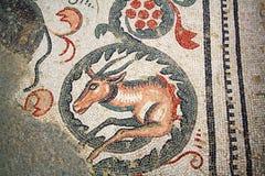 Mosaico romano della villa - Sicilia Fotografia Stock Libera da Diritti