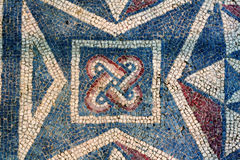 Mosaico romano della villa - Sicilia Fotografie Stock
