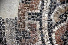 Mosaico romano no museu arqueológico 16 de Granada imagens de stock