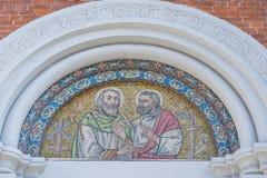 Mosaico sacro di arte immagine stock
