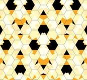 Mosaico sem emenda do favo de mel do sumário do teste padrão Imagem de Stock