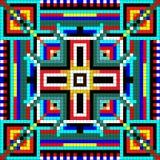 Mosaico sem emenda do ornamento geométrico com quadrados coloridos Imagens de Stock