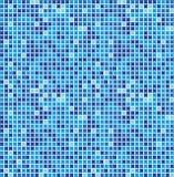 Mosaico senza giunte blu Fotografia Stock Libera da Diritti