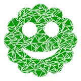 Mosaico sorrido da etiqueta dos triângulos ilustração royalty free