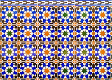 Mosaico spagnolo tipico fotografie stock