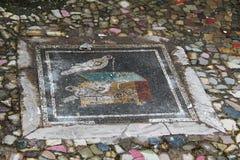 Mosaico sul pavimento nella città antica di Pompei, Italia Fotografia Stock Libera da Diritti