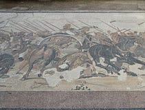 Mosaico sul pavimento nella città antica di Pompei, Italia Immagine Stock Libera da Diritti