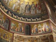 Mosaico sull'altare di Santa Maria in Trastevere a Roma Fotografie Stock