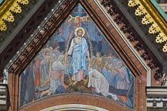Mosaico sull'esterno della chiesa del salvatore su sangue Fotografia Stock