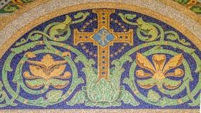 Mosaico transversal cristão Foto de Stock