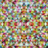 Mosaico triangolare BackgroundΠvariopinto Immagine Stock