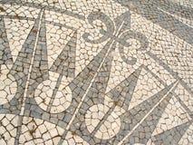 Mosaico in un marciapiede portoghese Fotografia Stock Libera da Diritti