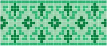 Mosaico verde Fotografia Stock Libera da Diritti