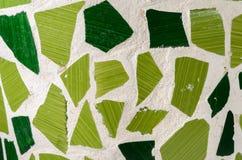 Mosaico verde Fotografia de Stock