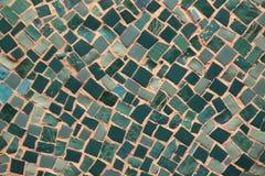 Mosaico verde Imagens de Stock