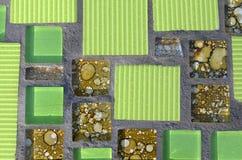 Mosaico verde Immagini Stock