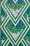 Mosaico; verde, blu e bianco Fotografia Stock Libera da Diritti