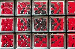 Mosaico vermelho Fotografia de Stock
