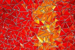 Mosaico vermelho fotografia de stock royalty free