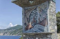 Mosaico vicino a Camogli Fotografia Stock Libera da Diritti