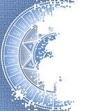 Mosaico viejo azul Imagen de archivo