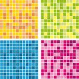 Mosaicos coloridos vetor da parede do teste padrão Fotografia de Stock