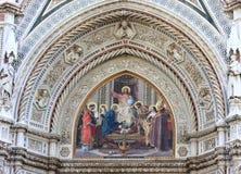 Mosaicos de la catedral en Florencia, Italia Imágenes de archivo libres de regalías