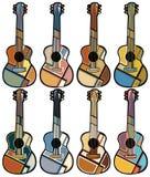 Mosaicos de la guitarra Imagen de archivo libre de regalías