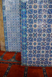 Mosaicos de la teja de Iznik Fotografía de archivo