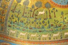 Mosaicos de oro Imagen de archivo libre de regalías