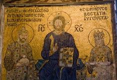 Mosaicos de Zoe de la emperatriz Foto de archivo libre de regalías