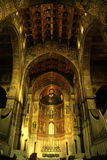 Mosaicos del altar y del oro de la catedral de Monreale, Sicilia Foto de archivo libre de regalías