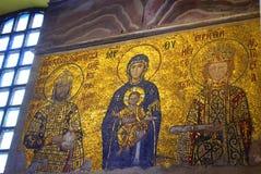 Mosaicos del bizantino de Hagia Sophia Imagenes de archivo