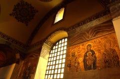 Mosaicos del bizantino de Hagia Sophia Foto de archivo