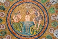 Mosaicos del fresco en Ravena Imagen de archivo