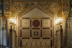Mosaicos em Cappella Palatina - Palermo Foto de Stock