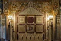 Mosaicos en Cappella Palatina - Palermo Foto de archivo
