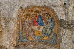 Mosaicos en el monasterio de Ostrog Imagenes de archivo