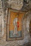 Mosaicos en el monasterio de Ostrog Fotos de archivo libres de regalías