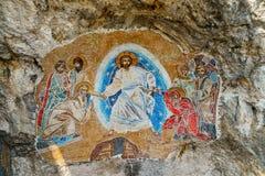 Mosaicos en el monasterio de Ostrog Imagen de archivo