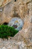 Mosaicos en el monasterio de Ostrog Fotografía de archivo