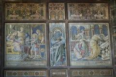 Mosaicos en la catedral o la iglesia de monasterio en Chester England Fotos de archivo libres de regalías
