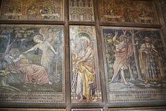 Mosaicos en la catedral o la iglesia de monasterio en Chester England Imagen de archivo