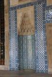 Mosaicos que cubren las paredes exteriores de Rustem Pasha Mosque, Fotografía de archivo