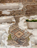 Mosaicos restaurados en la basílica de Aquileia Foto de archivo