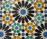 Mosaics in Alhambra palace, Granada, Spain Royalty Free Stock Image